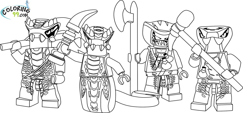 ausmalbilder ninjago schlange – Ausmalbilder für kinder … | lego ...
