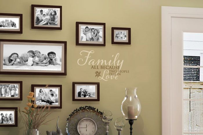 FAMILY all because two people fell in love Wall Decal | Living ...