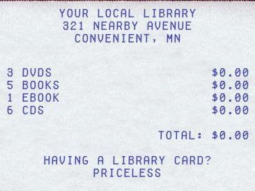 Image Generators for Library Displays Library card