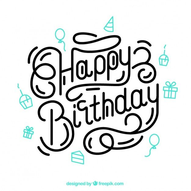 Download Happy Birthday Lettering For Free Happy Birthday Lettering Happy Birthday Typography Happy Birthday Hand Lettering