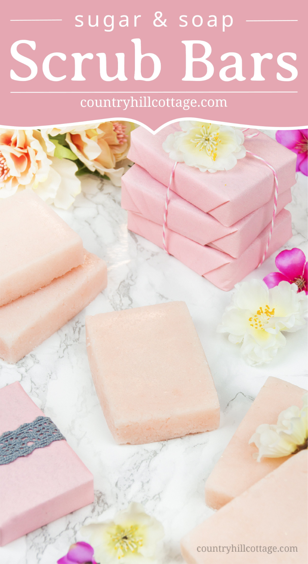 Sugar Soap Scrub Bars with Essential Oils