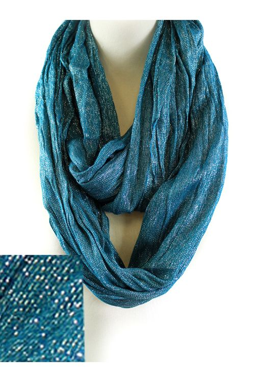 Shimmer Liam Infinity Scarf in Blue