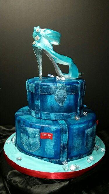 Denim And Diamonds Cake My Cake Designs Pinterest