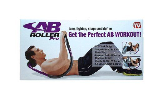 The AB ROLLER Pro works your Core for Tight Abs!! It has Foam Padding for a Solid Grip and Protects Floors.
