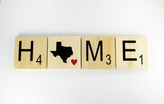 Home State Tiles Scrabble Wall Art Home State by SweetJeanShop ...