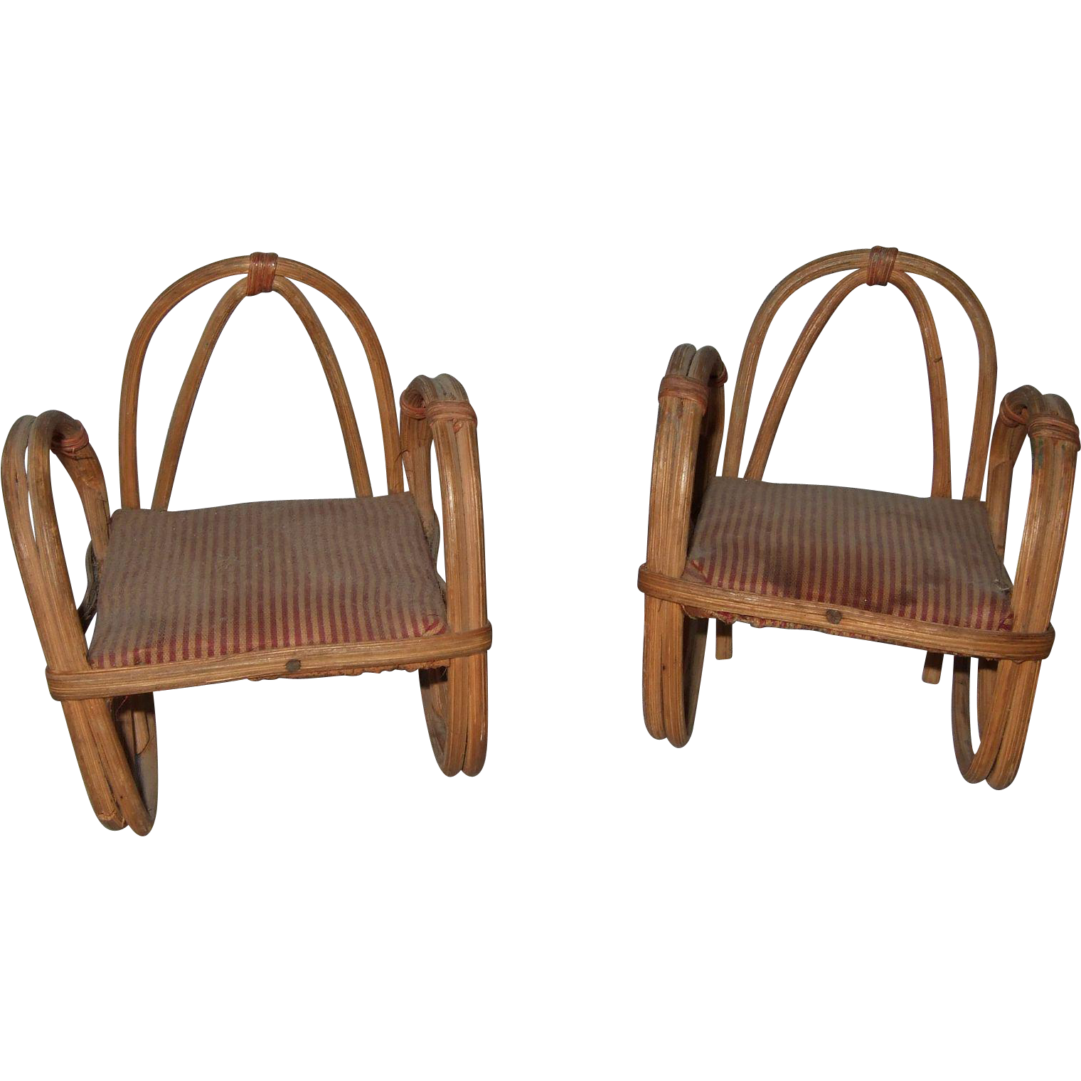 Bent Bamboo Chair C 1920s Made In Japan From Shirleydoll On Ruby Lane