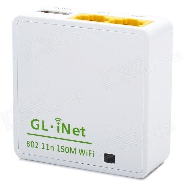 GL iNet wifi router - 64MB RAM, 16MB Flash, OpenWrt