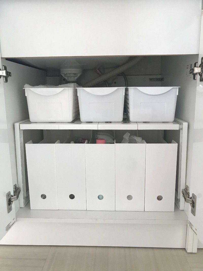 洗面 台 下 収納 洗面台下の収納アイデアまとめ!収納力をアップさせる100均アイテムも...