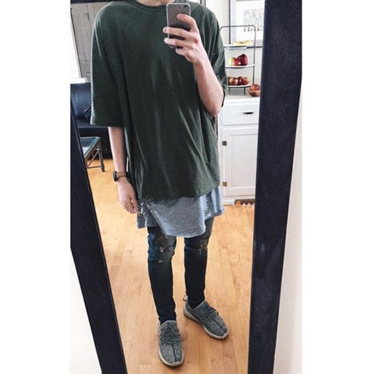 Wholesale Price Oversized T Shirt Homme Kanye West Clothes Yeezy Season Style T Shirt Hip Hop Tshirt Streetwear Mens T Shirts