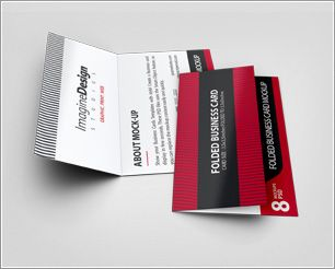 Folded business card mockup v3 show your folded business card folded business card mockup v3 show your folded business card templates with style create accmission Gallery