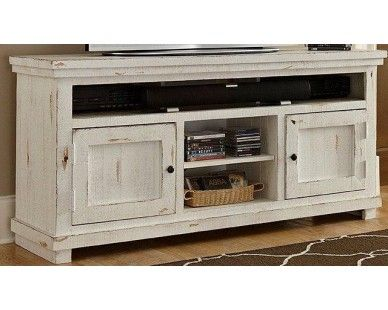 64 tv stand distressed white sam levitz furniture - Distressed White Tv Stands