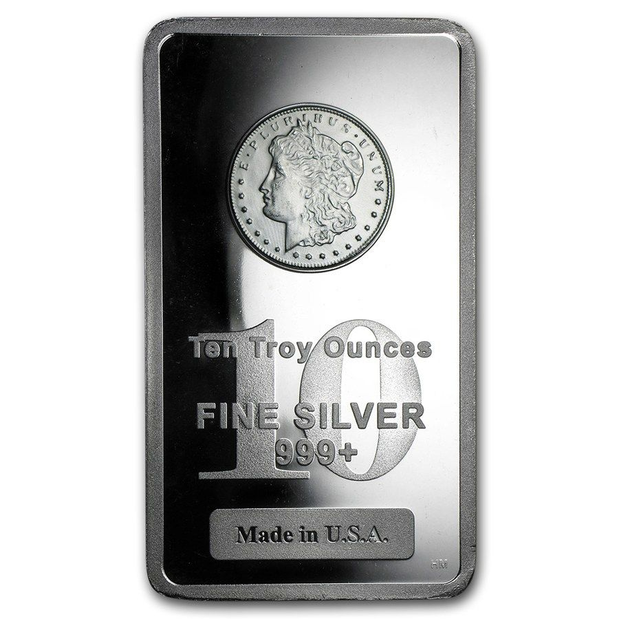 10 Oz Silver Bar Morgan Design Silver Bars Buy Silver Coins Silver Bullion