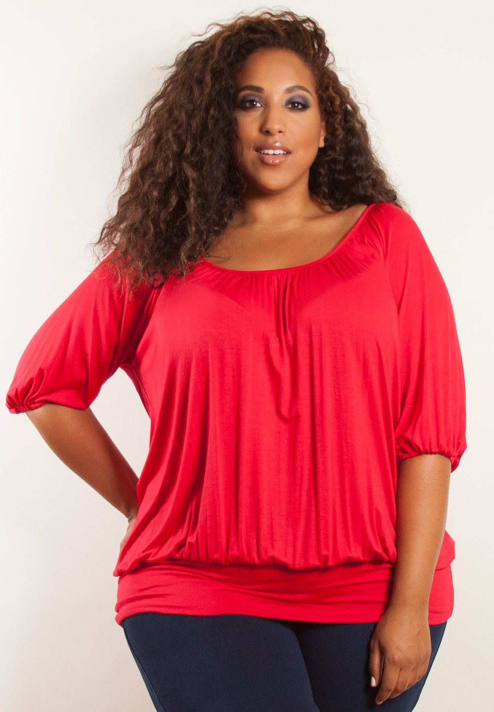 bbbe8cc0ba plus-size-fashion red 4 Tops Tamanhos Maiores