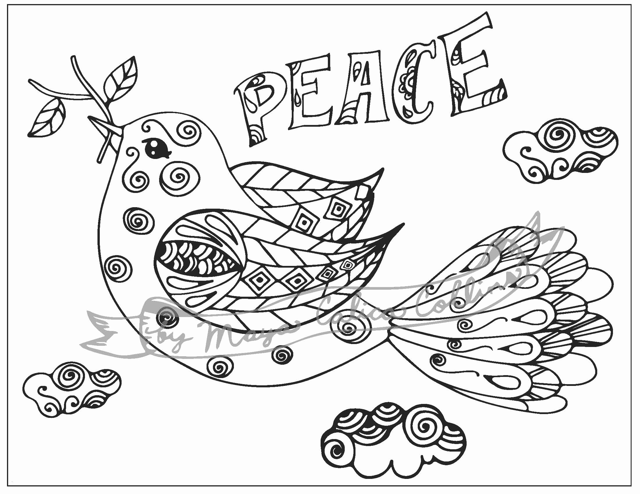 Drawing Book Page Designs Unique Good Looking Peace Dove ...