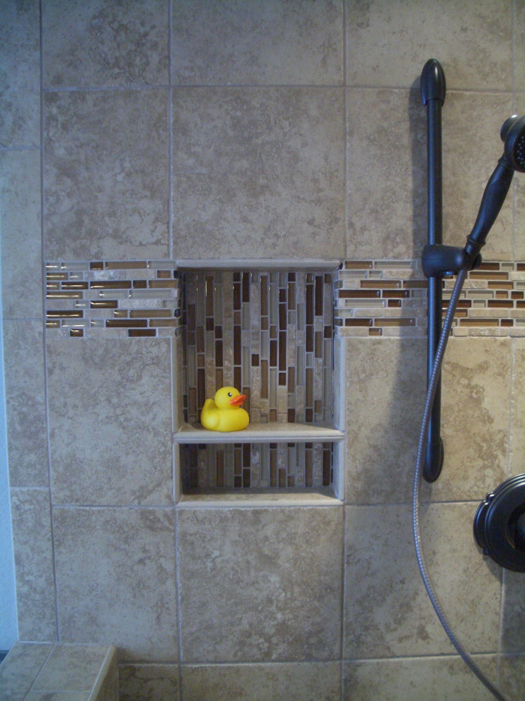 Marvelous Niche For Your Rubber Ducky How To Waterproof A Shower Niche