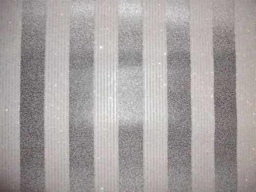 Luxury Designer Wallpaper (SILVER/BLACK Glitter Stripe) | EBay