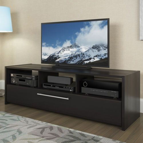 Attrayant Elegant TV Stand Media Entertainment Center Console Home Theater Cabinet  Black