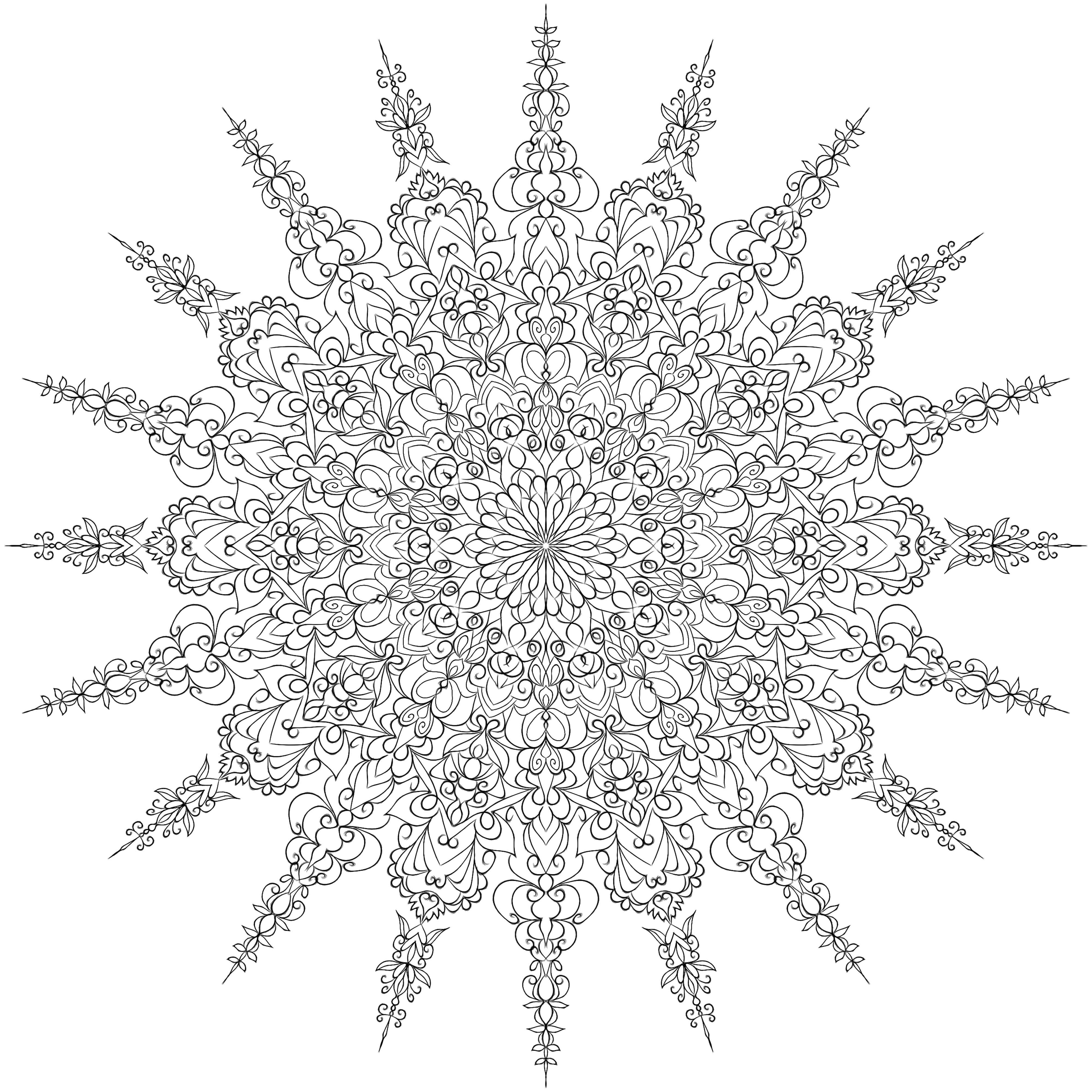 Snowflake Pattern By WelshPixie