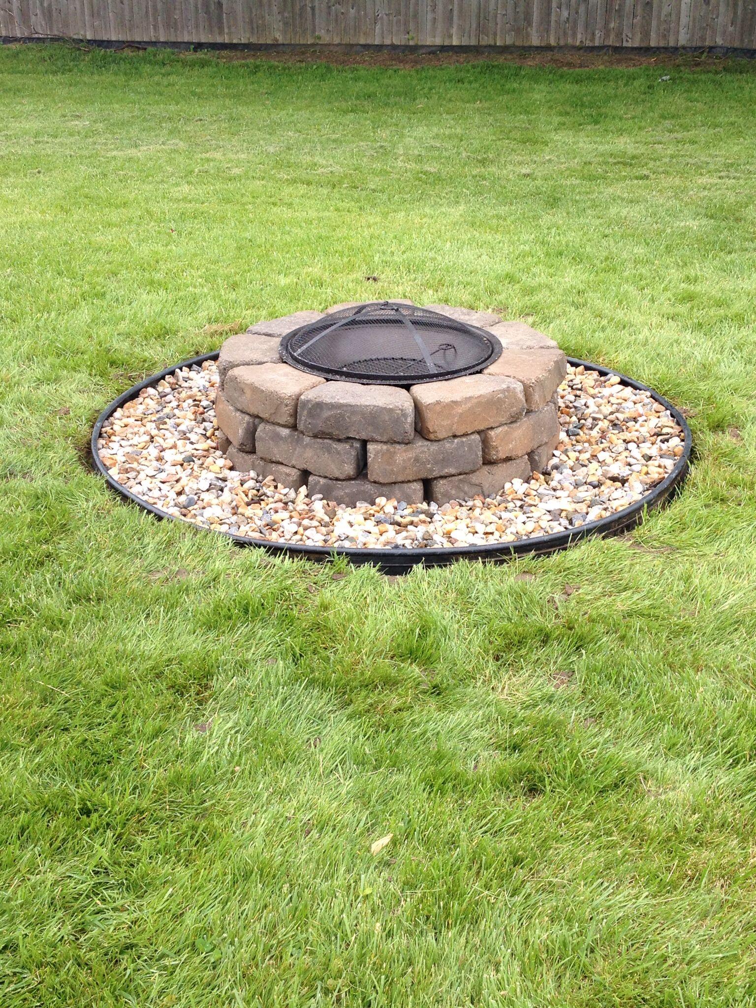 Fire Pit Bricks Lowes Part - 29: Fire Pit DIY Project -- Less Than $100 (excludes Fire Pit Bowl And Landscape