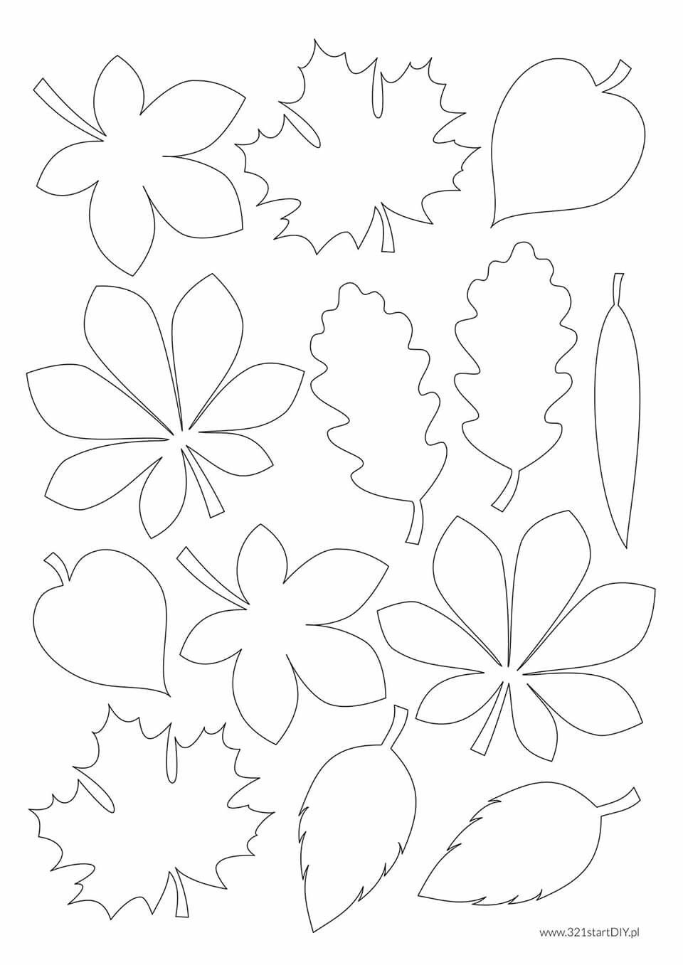 Przedszkole Paper Flower Art Fall Coloring Pages Fall Crafts For Kids