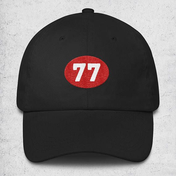 967d0ce4bb7 40th Birthday Gifts For Women   Men - 77 Baseball Cap - Black- Blue Dad Hat  - 40th Birthday Hats - Baseball Hat - 40th Birthday Gift for Man