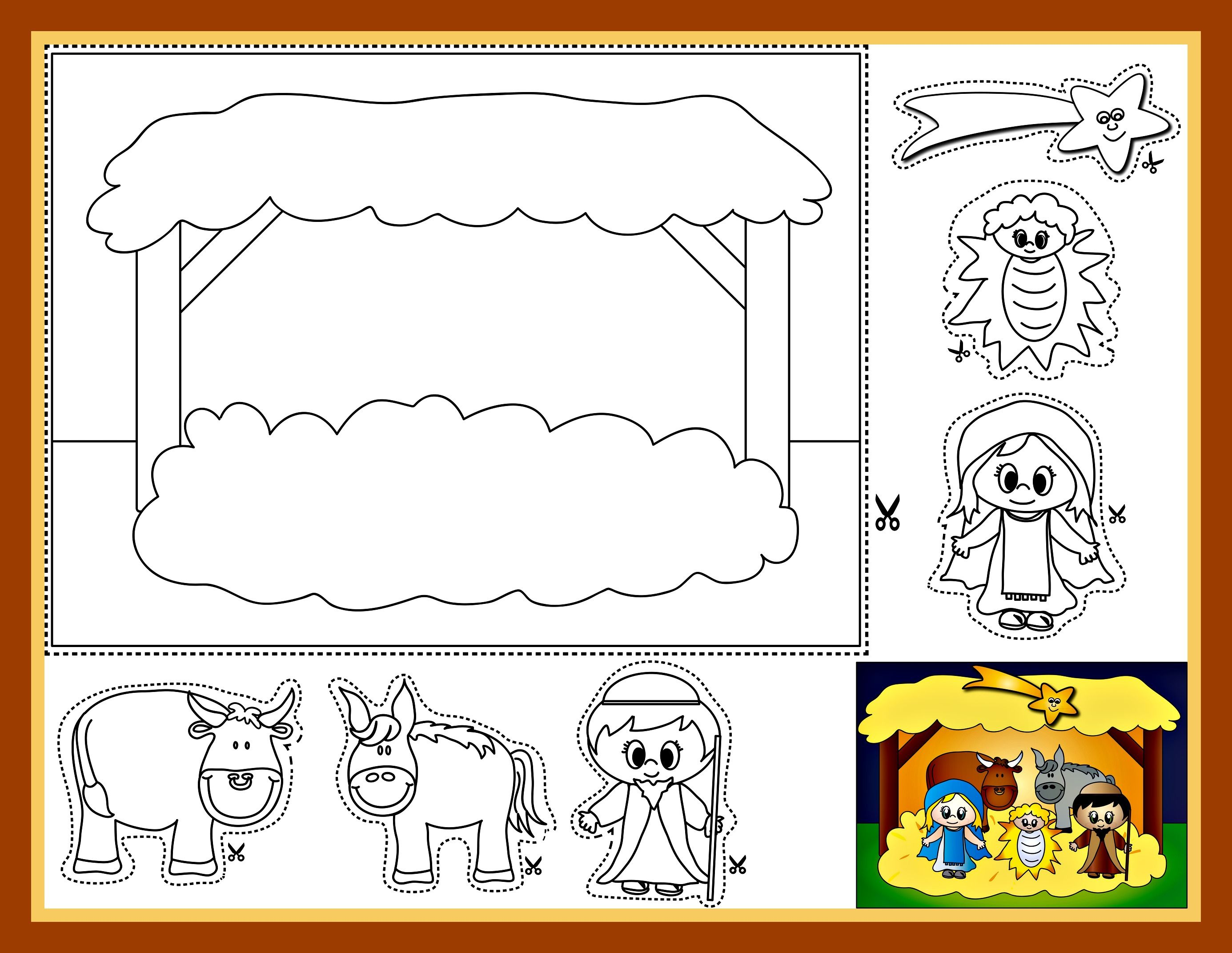 Childrens coloring pages of nativity - Nativity Coloring Sheet Bible Activity For Children