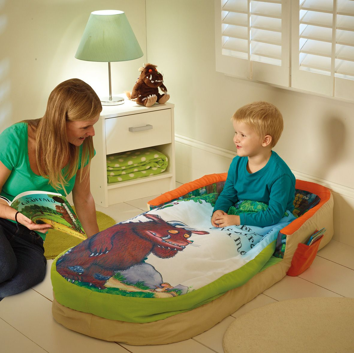 Settle in, snuggle down and slumber – The Gruffalo My First ReadyBed is the ideal transition from a travel cot, offering comfort and security for your little one at night time.