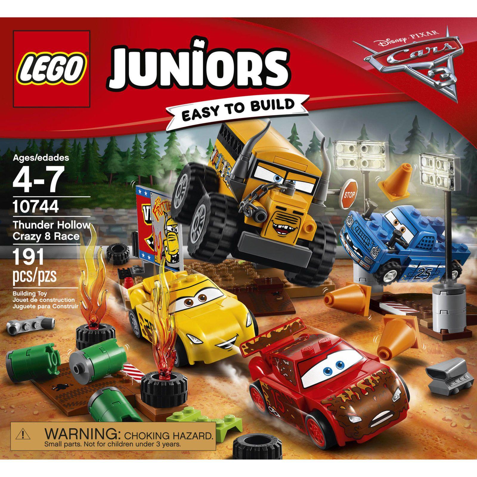 Car 3 toys  LEGO Juniors Disney Cars  Thunder Hollow Crazy  Race