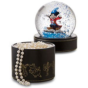 Disney Sorcerer Mickey Mouse Snowglobe Gift Box | Disney StoreSorcerer Mickey Mouse Snowglobe Gift Box - Mickey works his magic atop our Sorcerer Mickey Mouse Snowglobe Gift Box. Part fanciful snowglobe with blue and bubble glitter, part smart gift box, it features artwork of characters from Walt Disney's Fantasia.