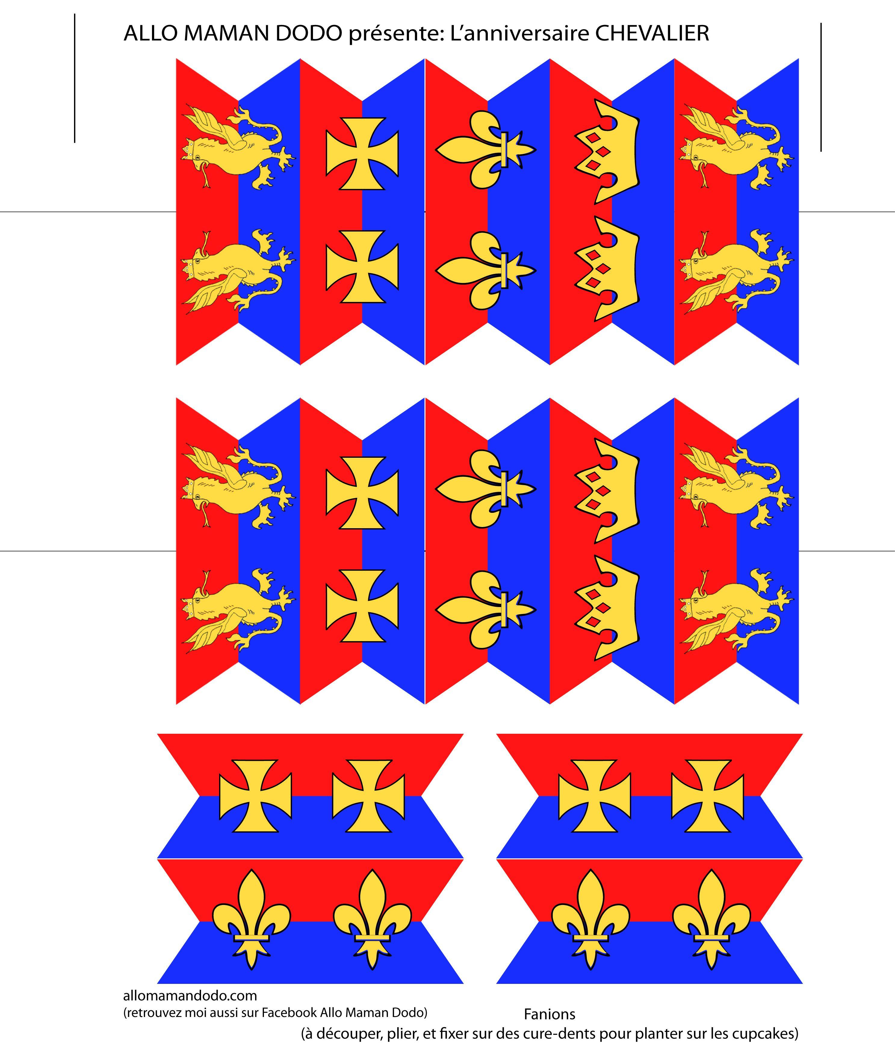 Un anniversaire de chevalier sweet table id es d co diy kit imprimer diy pinterest - Chateau a imprimer ...
