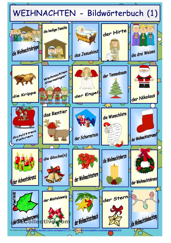 Weihnachten bildw rterbuch weihnachten daf daz natal no curso de alem o pinterest - Weihnachten daf ...
