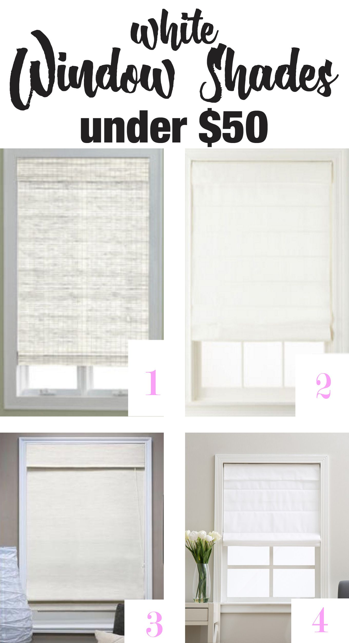 Looking for affordable stylish white window shades? They are hard to ...