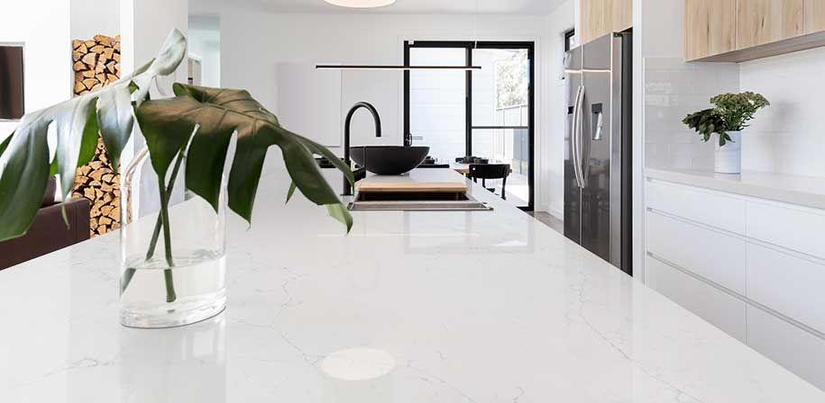 Calacatta Botanica Quartz White Quartz Countertops Q Premium