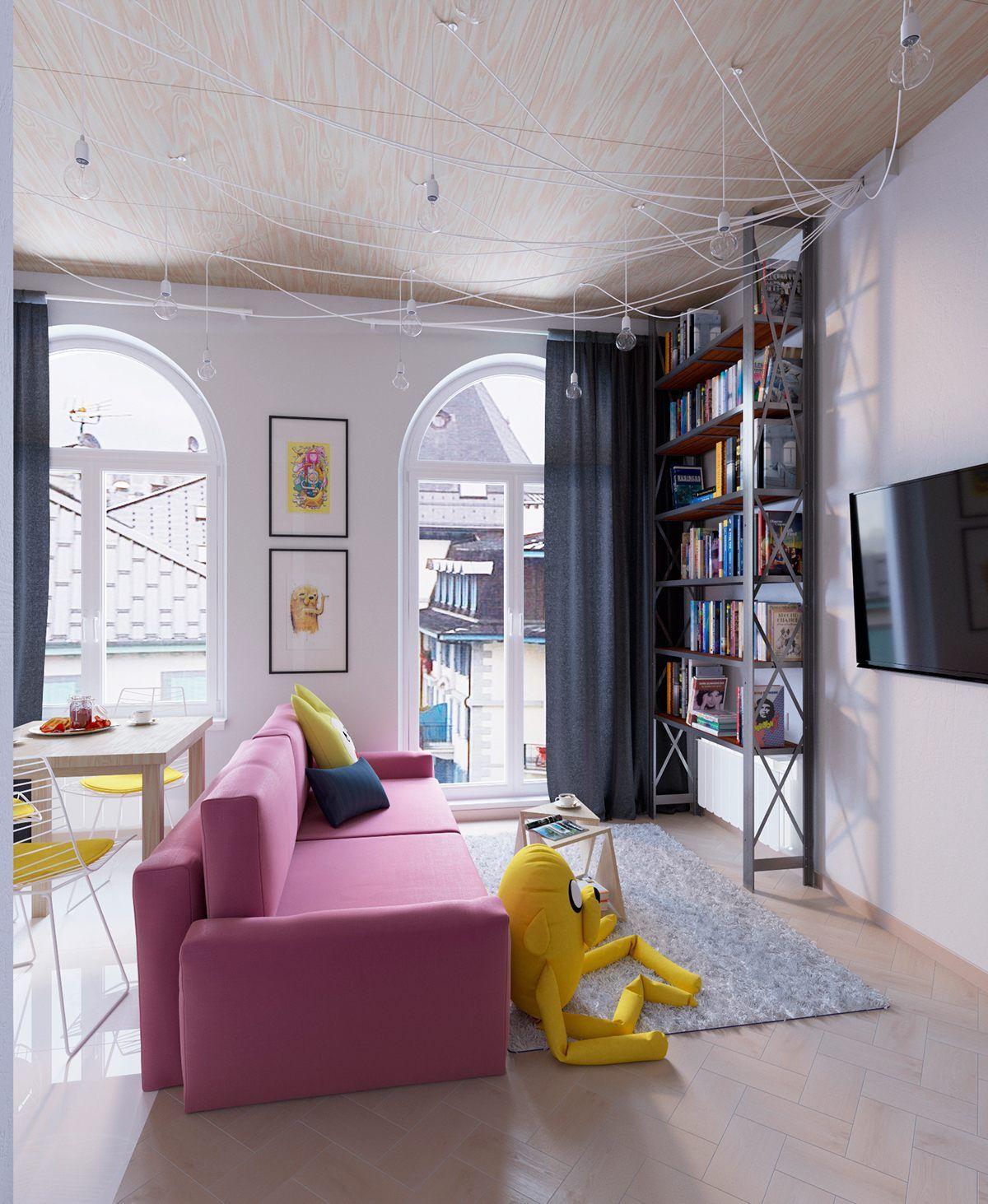 Casinha colorida: Home Tour: um loft moderno e muito fofucho