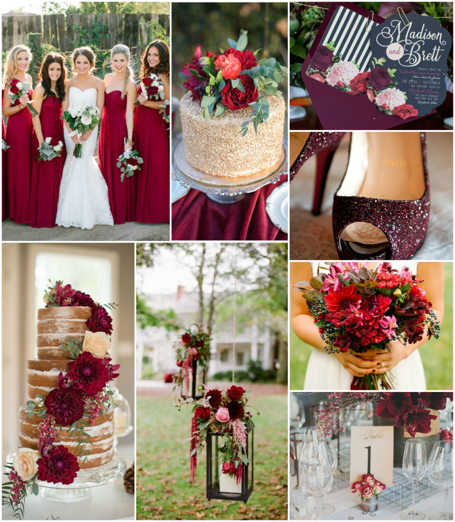 Red fall wedding ideas the image kid for Red gold wedding ideas