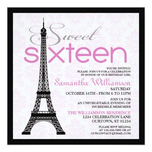 This Deals Pink Paris Sweet 16 Invitations Yes I can say you are on right site we just collected best shopping store that have