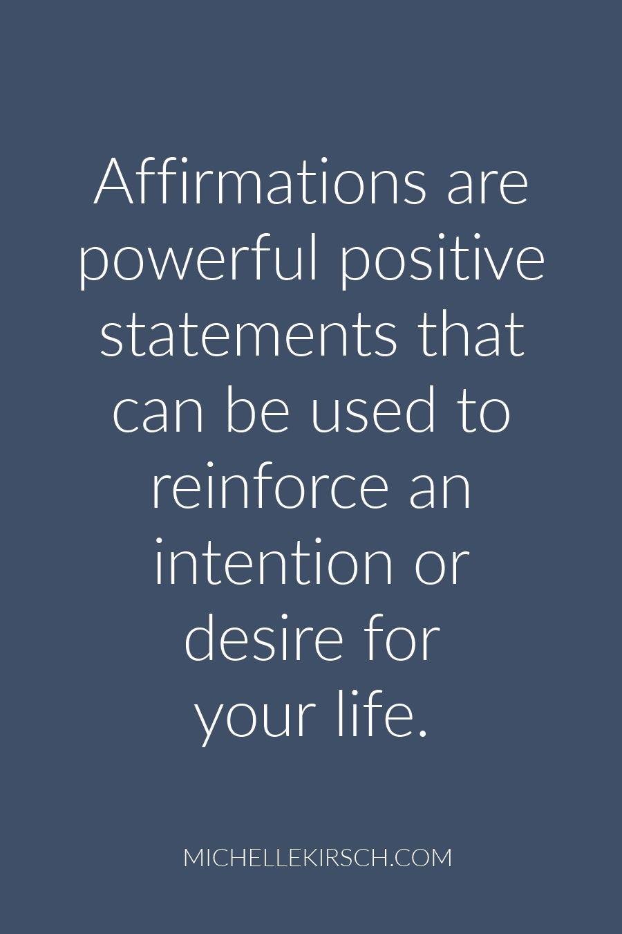 self affirmation