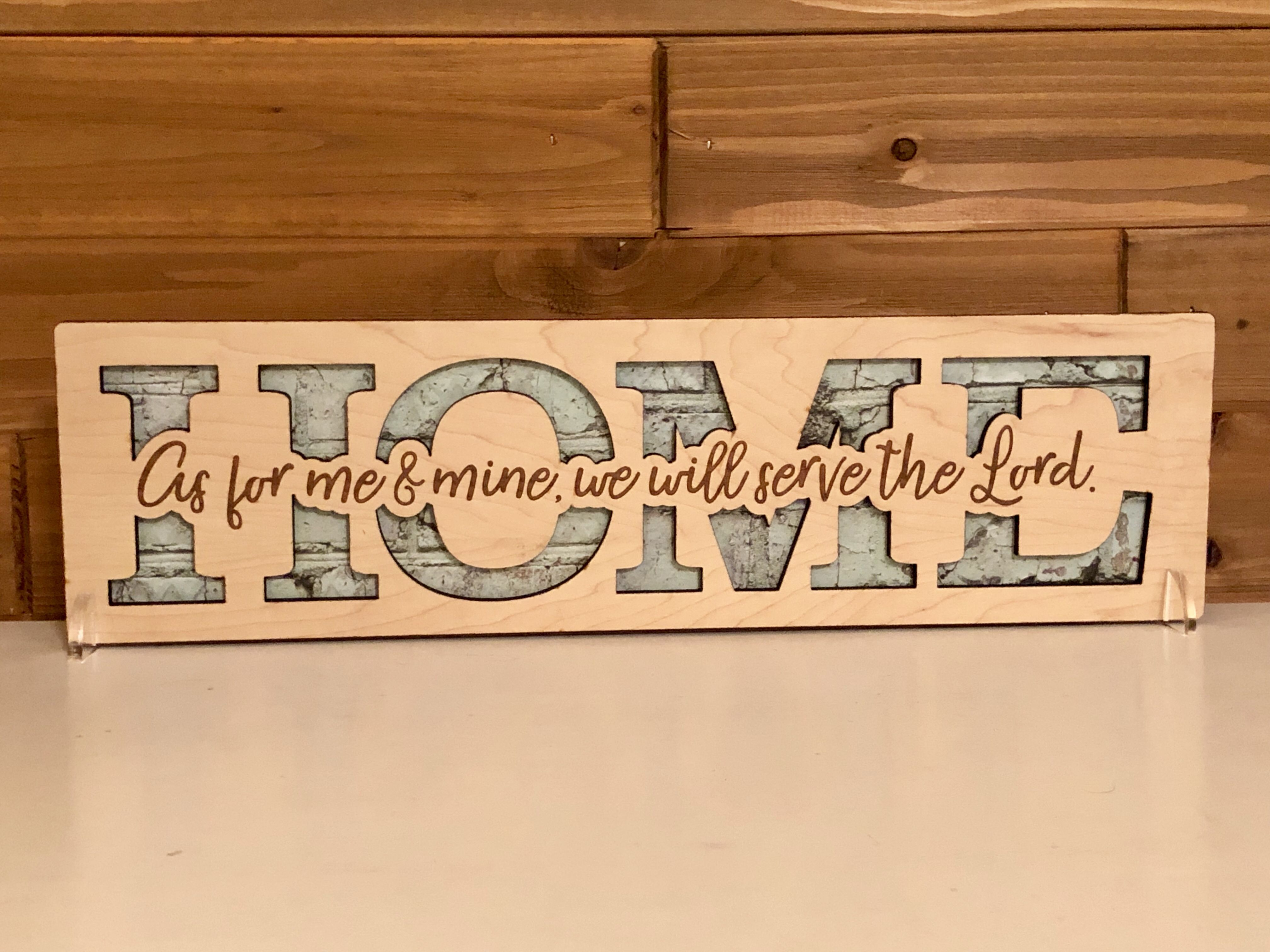 HOME - As for me and mine, we will serve the Lord | Laser