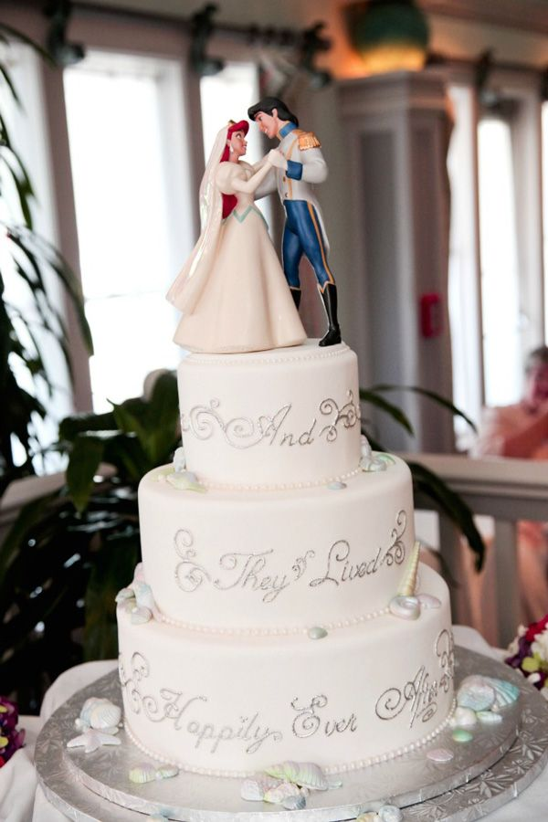 disney themed wedding cake toppers so we are both obsess with the mermaid lol we both 13573