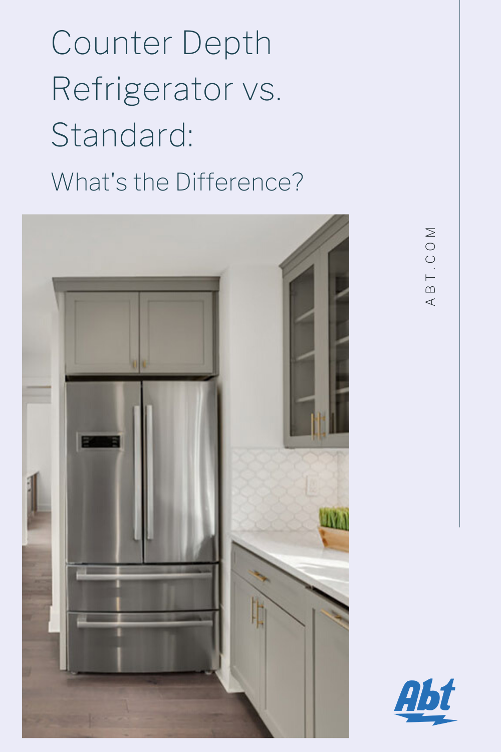 Counter Depth Refrigerator Vs Standard What S The Difference In 2020 Counter Depth Refrigerator Latest Kitchen Trends Counter Depth