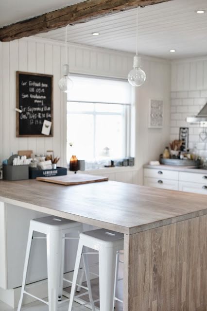Coastal Kitchen Idea Modern Beachy Kitchen Love The Contrast Of