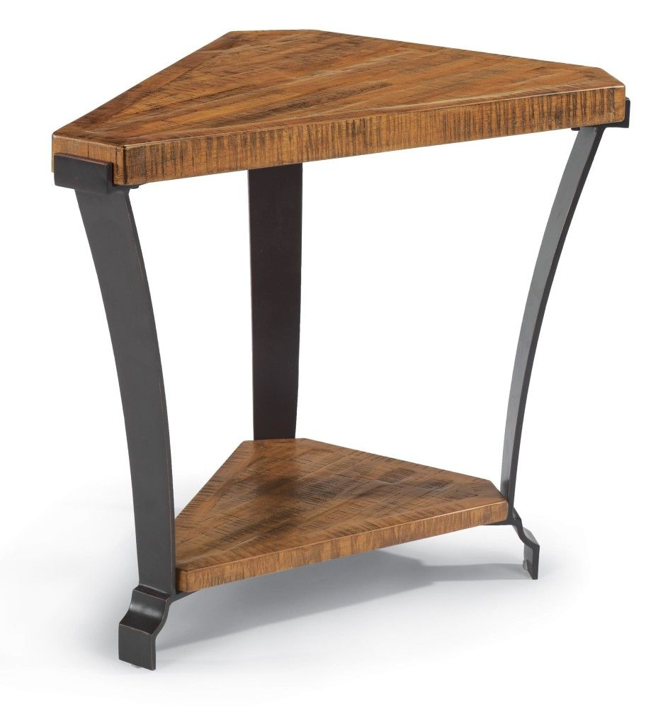 Bon Triangle End Table For Furniture Setting At An Angle To The Wall