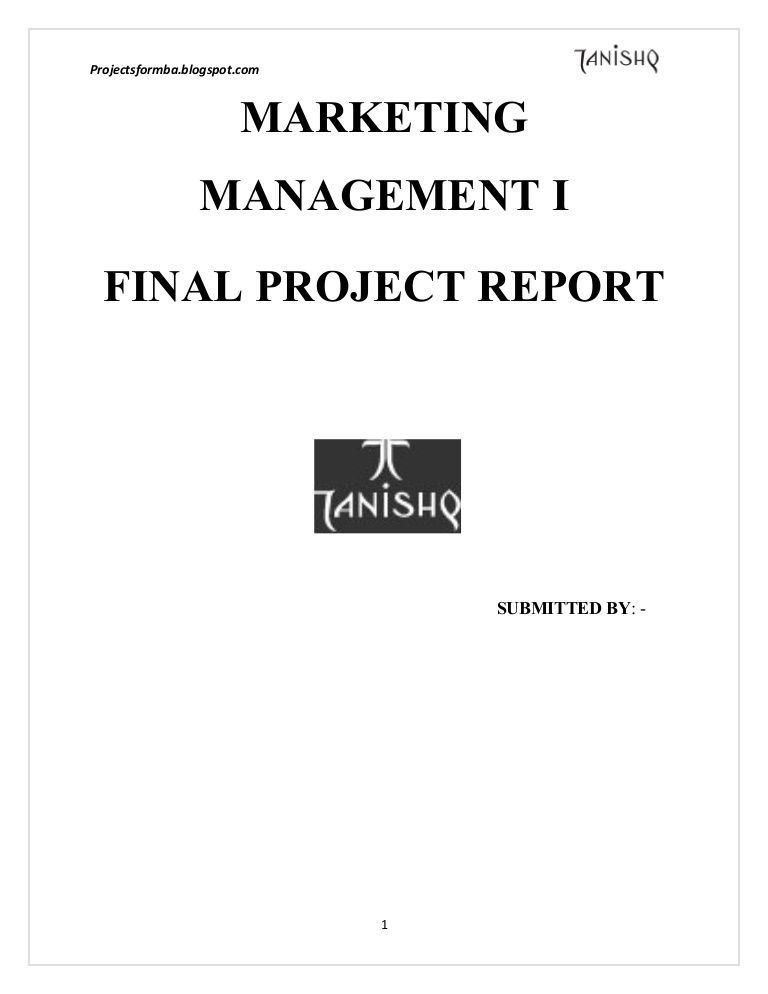 A marketing project report on tanishq sri Pinterest - project report