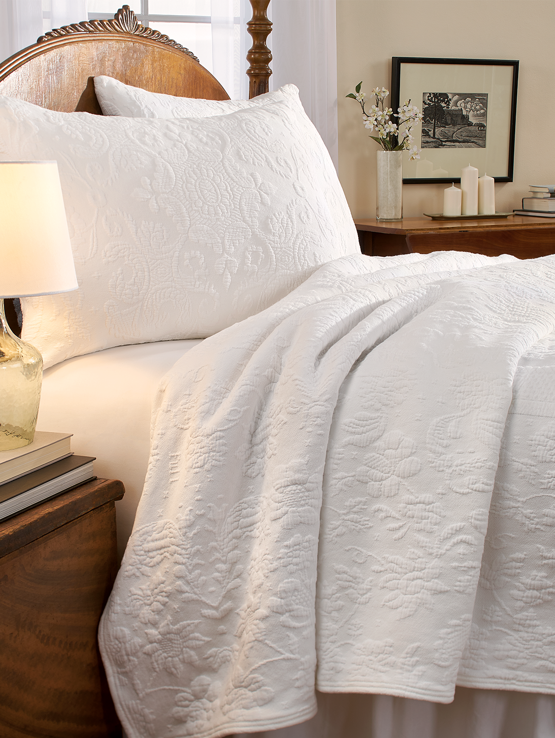 Queen Victoria Matelasse Coverlet Or Pillow Sham Bed Spreads Simple Bed Coverlet Bedding