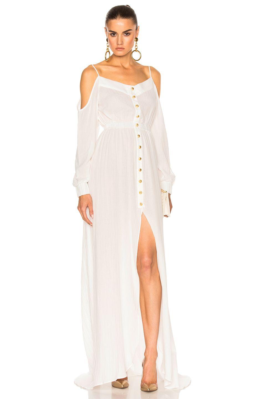 DRESSES - Long dresses Balmain Outlet Locations Online Sale Official Site Buy Cheap Visa Payment bKCOIS