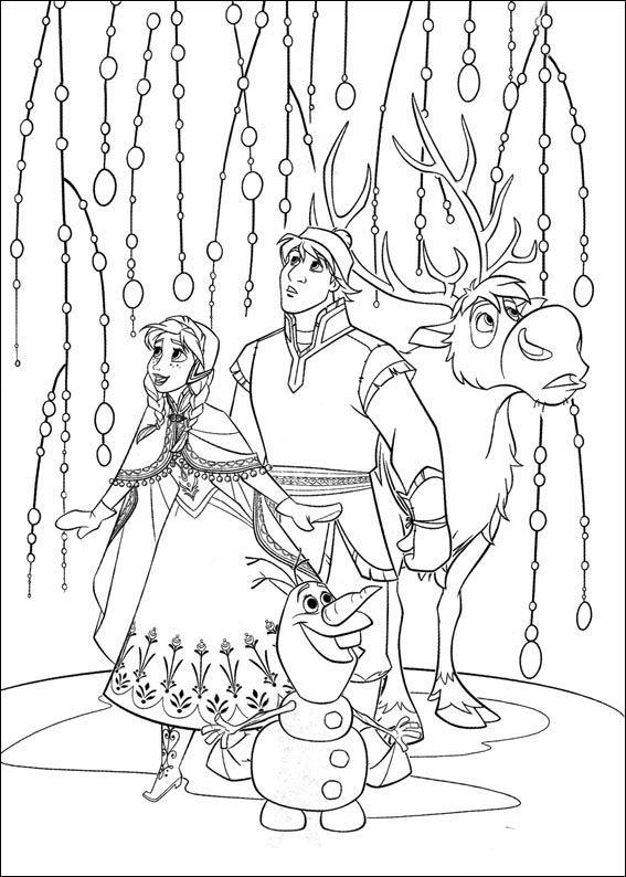 Frozen Ausmalbilder Malvorlagen Zeichnung Druckbare Nº 16 сказки