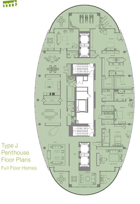 Penthouses for sale floor plans pdf of floor plan type j for Condo blueprints