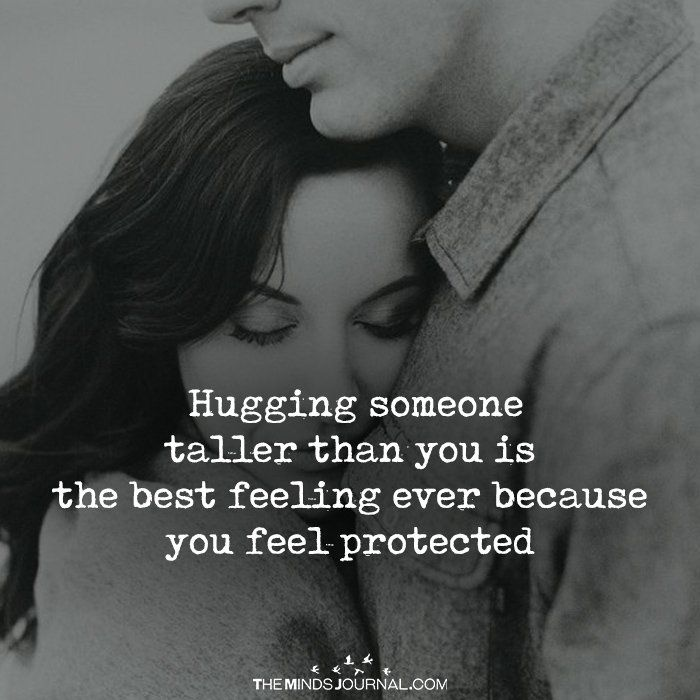 Hugging Someone Taller Than You – Love Quotes