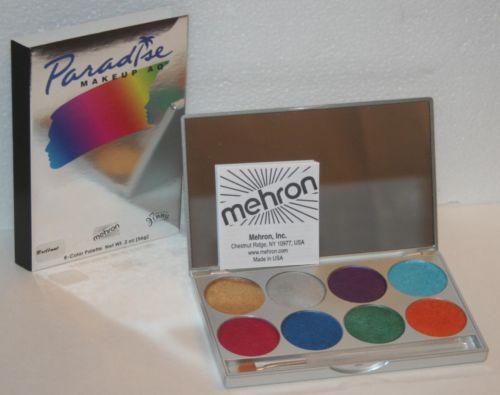 Paradise AQ Palette Face Makeup Body Paint Nuance Basic Tropical Pastel Mehron | eBay