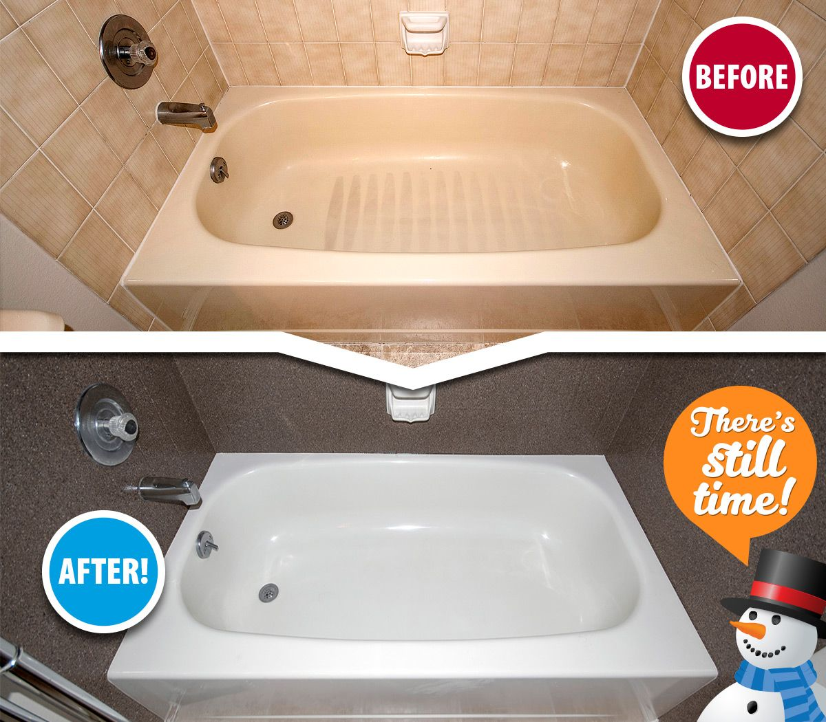 Embarrassed By Your Stained And Outdated Tub Tile Miracle